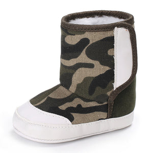 Unisex Camouflage Baby Winter Boots