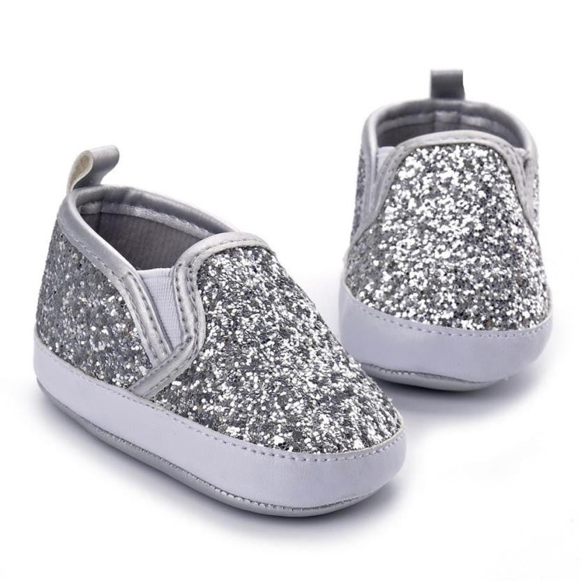 Metallic Girl Crib Sneaker