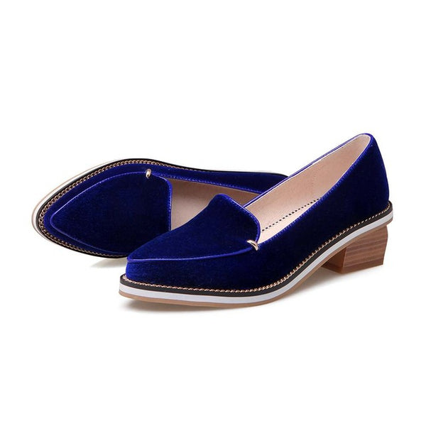 Chunky Heel Pointed Toe Loafer