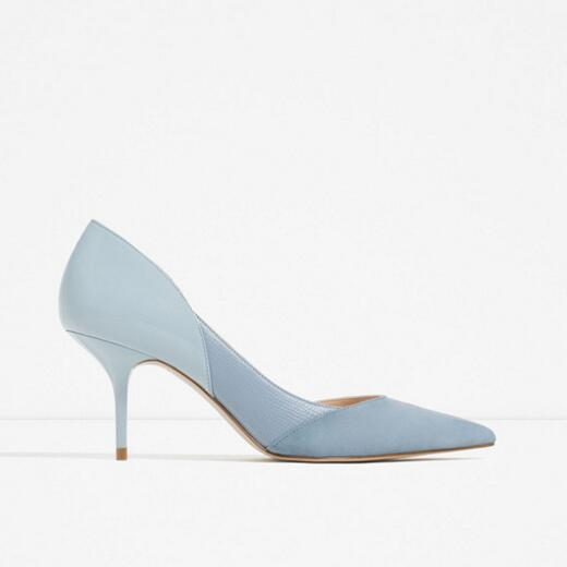 Color Block Mid Heel Pointed Toe