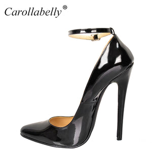 Ankle Strap Pointy High Heel Pump