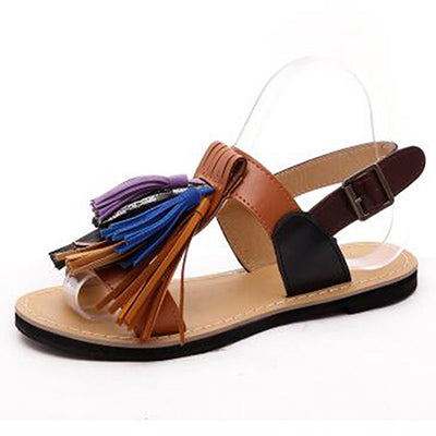 Casual Retro Leather Fringe Women's Sandals