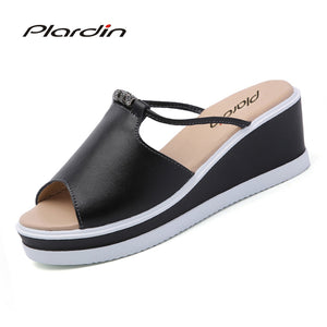 Bohemia Leather Casual Platform Sandal