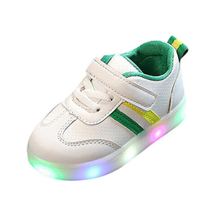 Baby Striped LED Luminous Sneakers