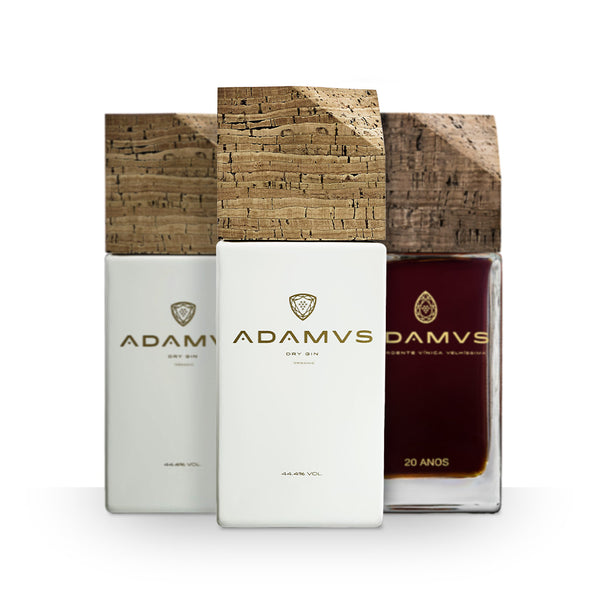 Pack of 2 Adamus Organic Dry Gin + Old Wine Spirit