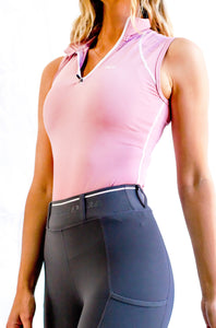 Sleeveless base layer in Blush Pink