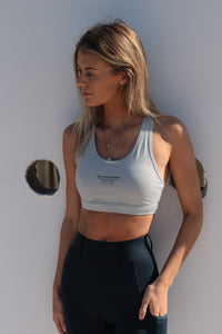 Show Ready sports bra in Heather Grey