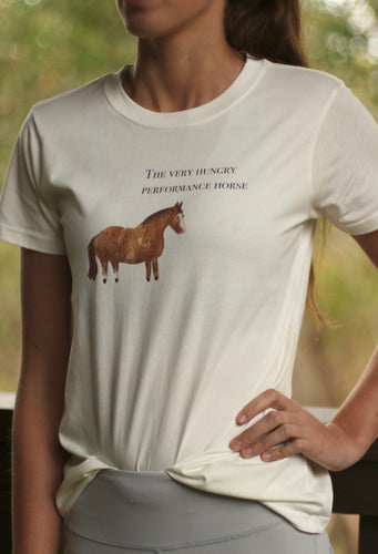 The Very Hungry Performance Horse tee in Natural