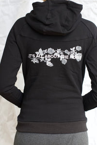 'IT'S ALL ABOUT THE HORSE' hoodie in Black