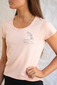 Little Girl tee in Baby Pink