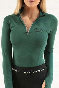 Emma Base layer in Hunter Green