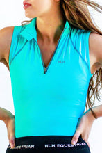Sleeveless base layer in Turquoise