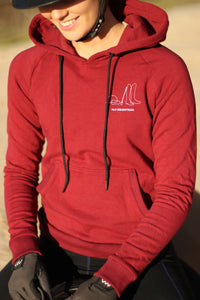 'IT'S ALL ABOUT THE HORSE' hoodie in Burgundy
