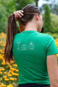 A horsey christmas tree tee in Green LIMITED EDITION