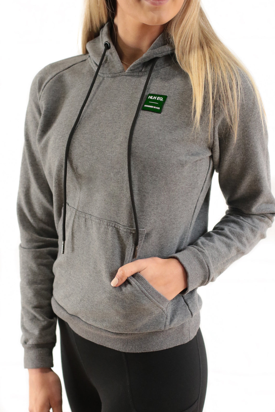 Stretch comfort hoodie in Marle Grey