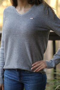 LUXE Sweater in French Grey