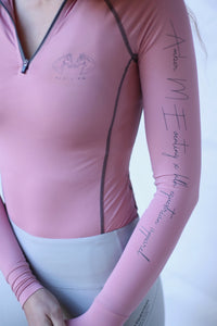 Amber M Eventing x HLH Collab Base layer in Blush Pink