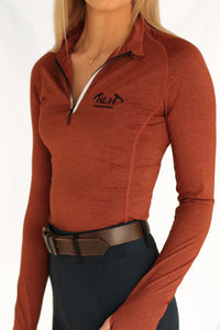 Louisa Base layer in Burnt Orange
