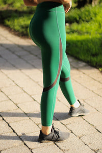 Active equestrian leggings in Forest Green
