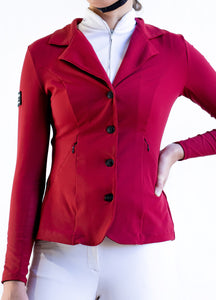 HLH Second Skin Show Jacket in Crimson Red