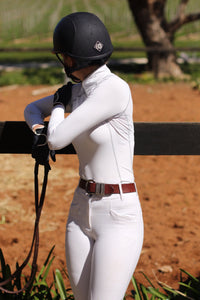 Elegance long sleeve show shirt in White