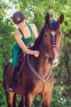 Active Equestrian sports bra in Forest Green