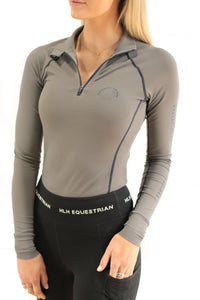 LIMITED EDITION Bluestone Equestrian x HLH Collab Base layer in Grey