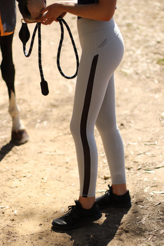 Comfort Sport leggings in Heather Grey