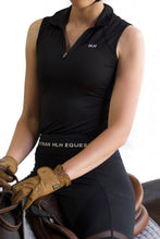 Sleeveless base layer in Black