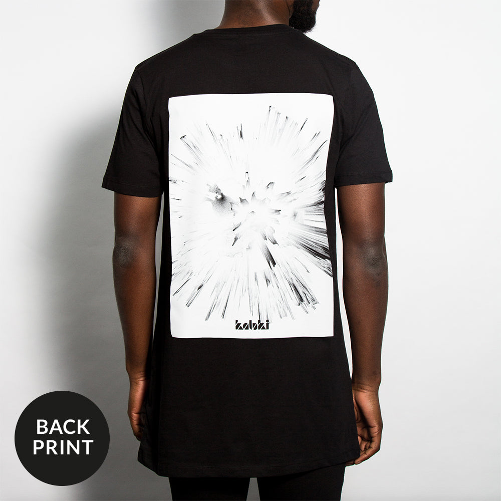 Graphic Longline Black T-shirt