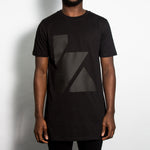 K Black On Black Longline T-shirt