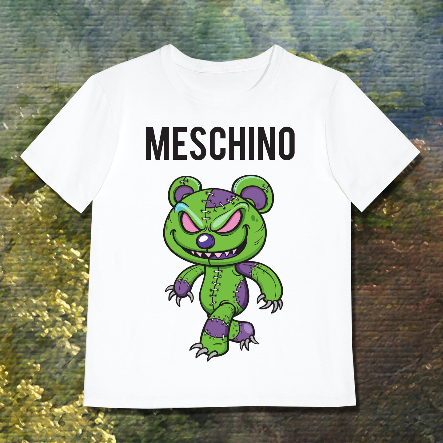 MESCHINO T-SHIRT GREEN - GIRLS