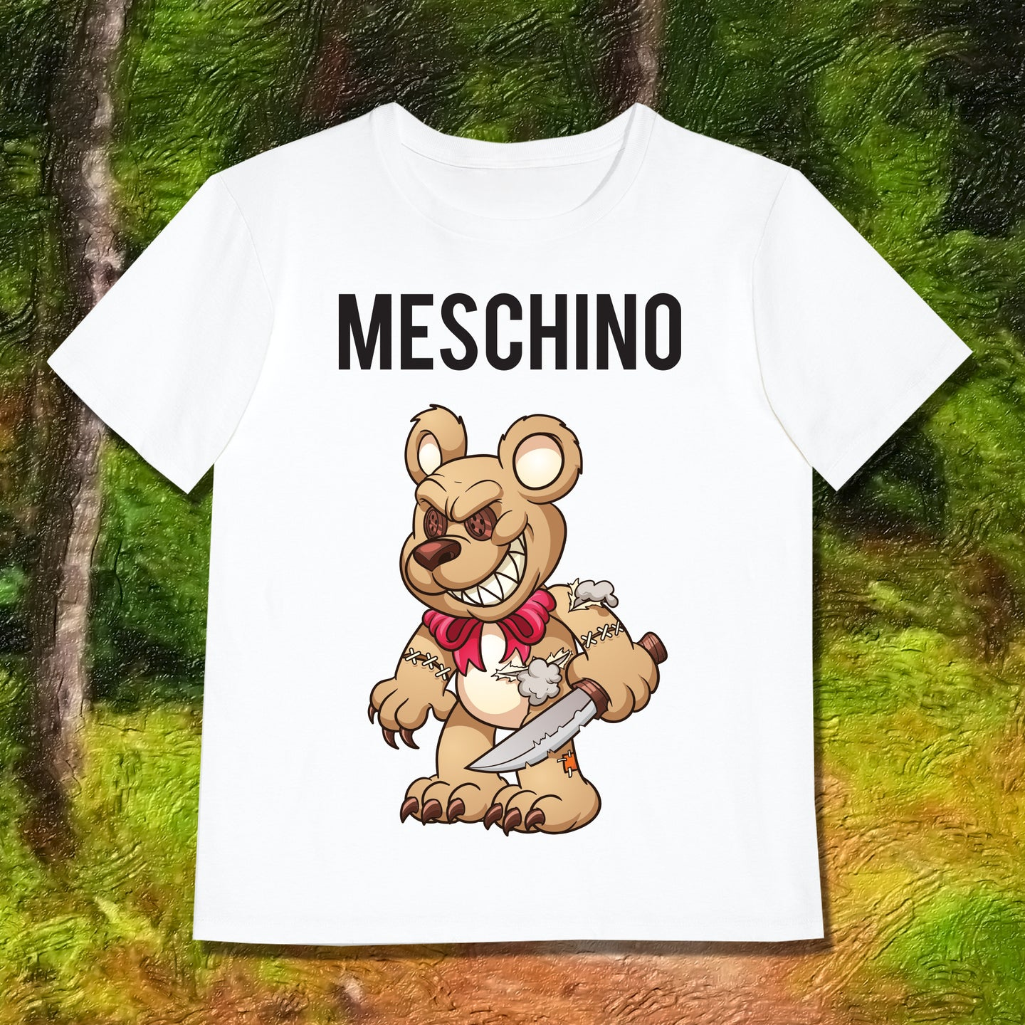 MESCHINO T-SHIRT BROWN - GIRLS