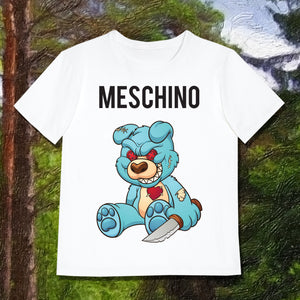 MESCHINO T-SHIRT BLUE - GIRLS