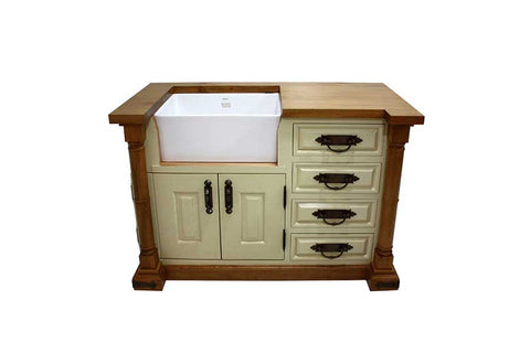 Cream Belfast Sink Unit solid wood
