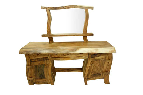 Mey Wood Wavy Java Dressing Table