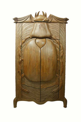 Unique solid wood scarab beetle wardrobe