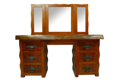 Mahogany Wavy Dressing Table