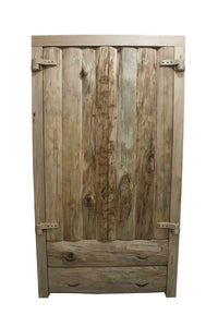 Solid Wood Log Cabin Wardrobe handmade