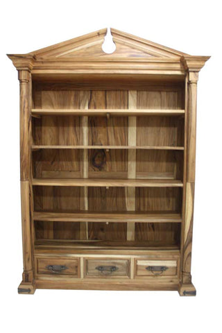 Grand Solid Wood Bookcase handmade large
