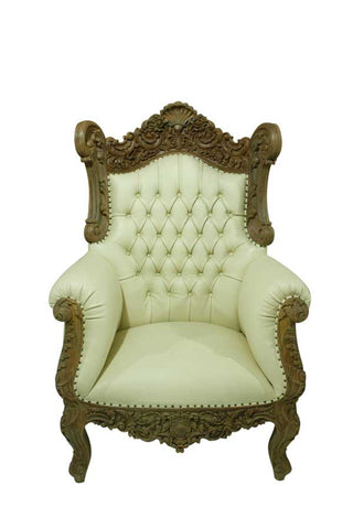Our Famous Cream Antique Throne