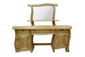 Light Wood Wavy Java Dressing Table