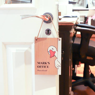 Personalised Office Goose Hanging Sign-Proper Goose