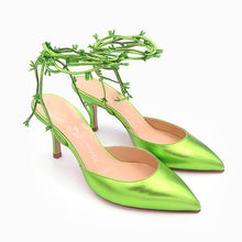 Load image into Gallery viewer, KatrineHanna BabyObeliaLime green shoes green heels stiletto highheels shoes for women shoe stores brand