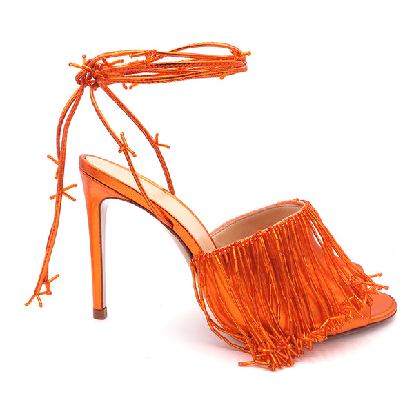 KatrineHanna RaggedBlossomOrange orange heels shoes for women sandals high heels womens sandals shoe stores banksia heels womens shoes luxury sandals shoe brands