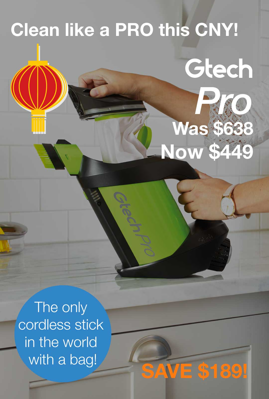 Gtech Pro bagged vacuum offer