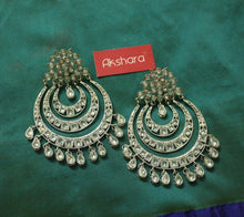 Festive layered chandbali earrings