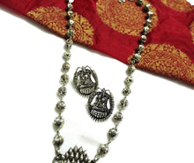 Traditional silver Lakshmi stoned set