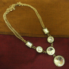 Rectangle round stone neckpiece