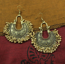 Gold floral afghani earrings